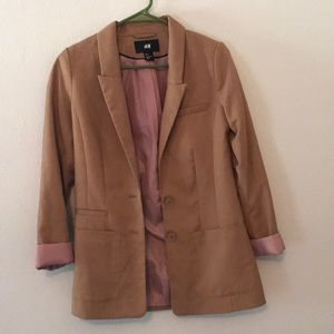 Tan H&M fitted blazer NWOT